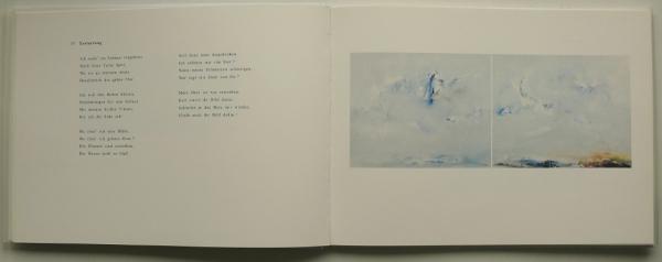 gemalt nach der Interpretation von Barry McDaniel, Gesang - Jonathan Adler, Klavier; mit einem Essay von Margret Schütte; Normalausgabe * 300 Expl., num., sign., 23 x 31 cm, 60 S., Leinen, 24 Farbabb., Text Margret Schütte, Berlin 1996<br><h3>50 €</h3>